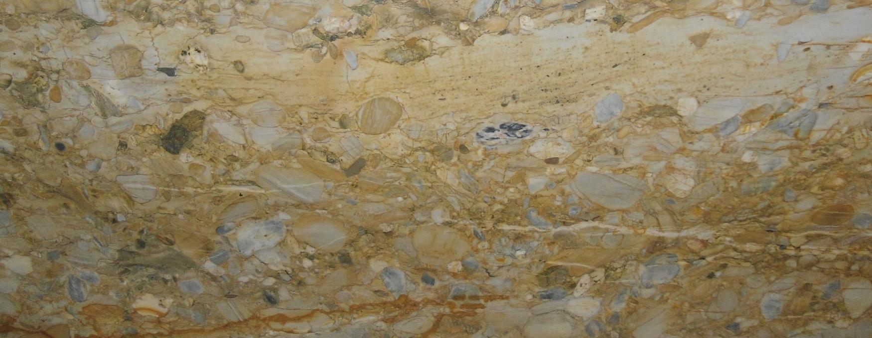 GOLD CREAM MOSAIC GRANITE SLAB 30 MM